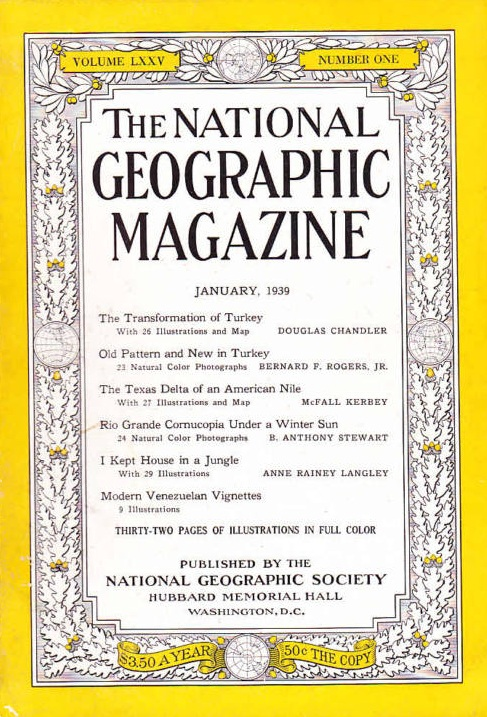 National Geographic January 1939-0
