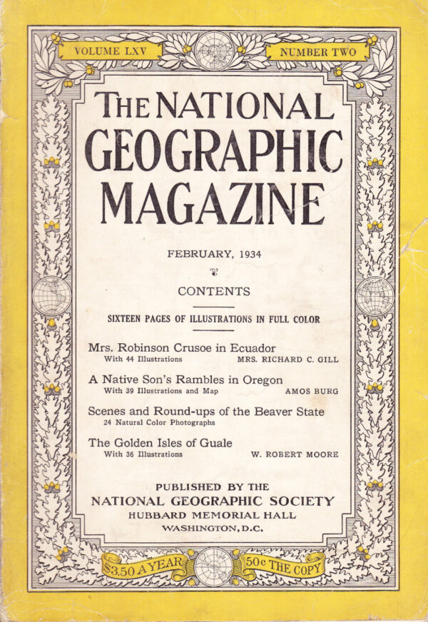 National Geographic February 1934-0