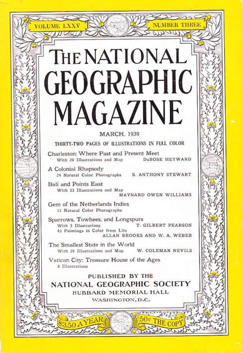 National Geographic March 1939-0