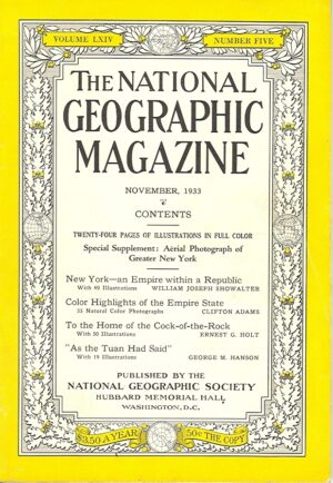 National Geographic November 1933-0