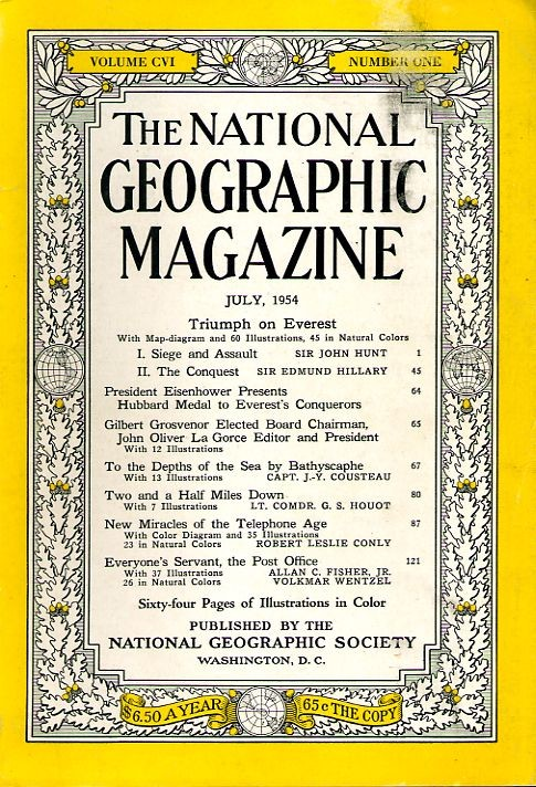 National Geographic July 1954-0