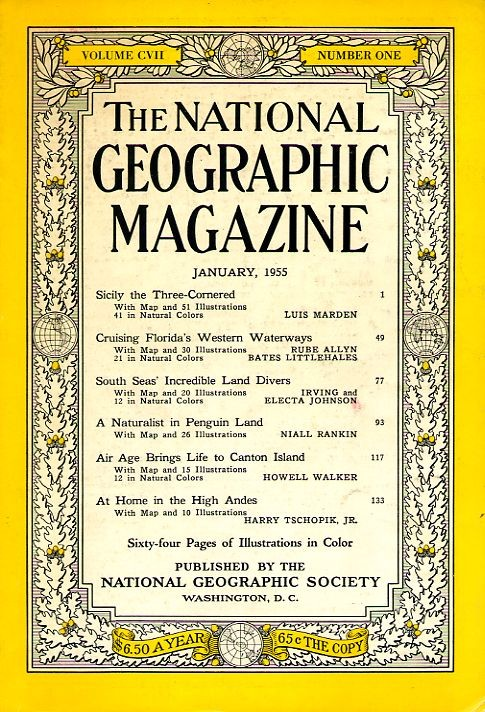 National Geographic January 1955-0