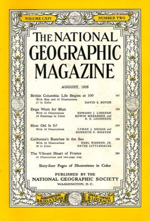 National Geographic August 1958-0