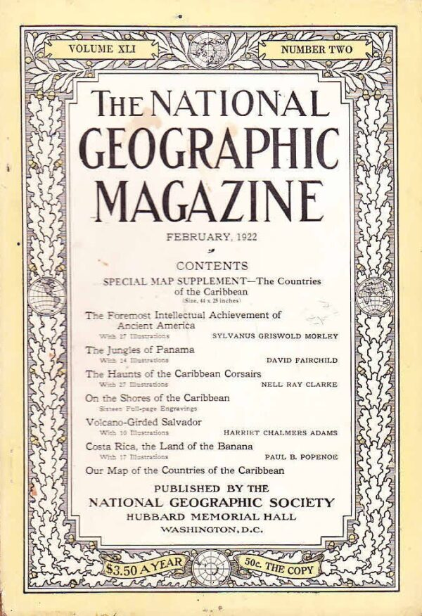 National Geographic February 1922-0