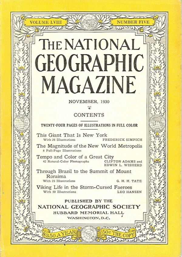 National Geographic November 1930-0
