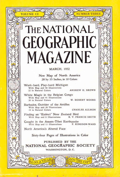 National Geographic March 1952-0