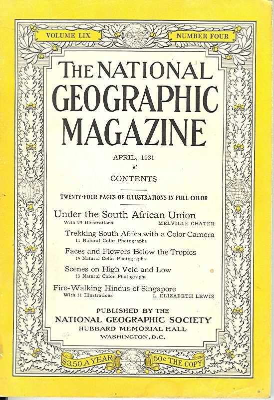 National Geographic April 1931-0