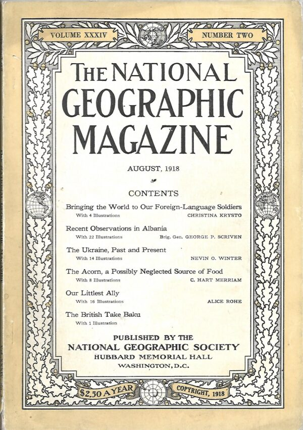 National Geographic August 1918-0