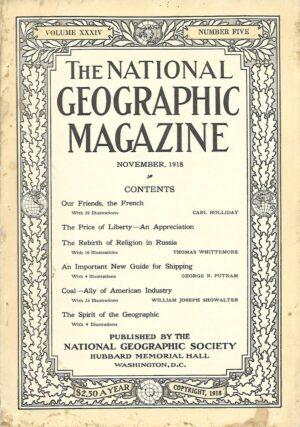 National Geographic November 1918-0