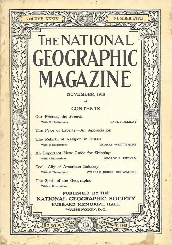 National Geographic November 1918-0