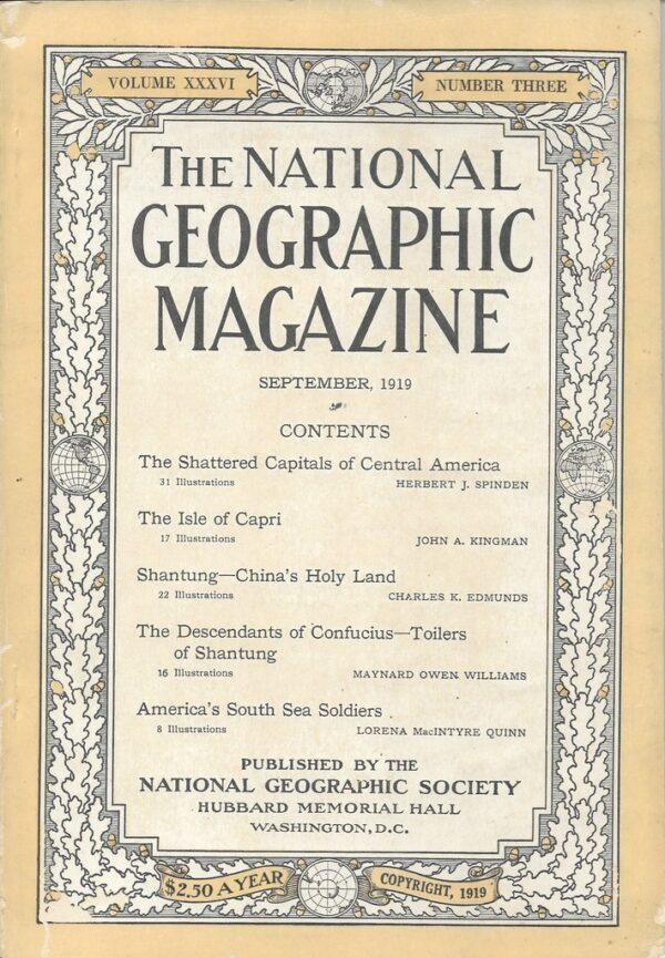 National Geographic September 1919-0