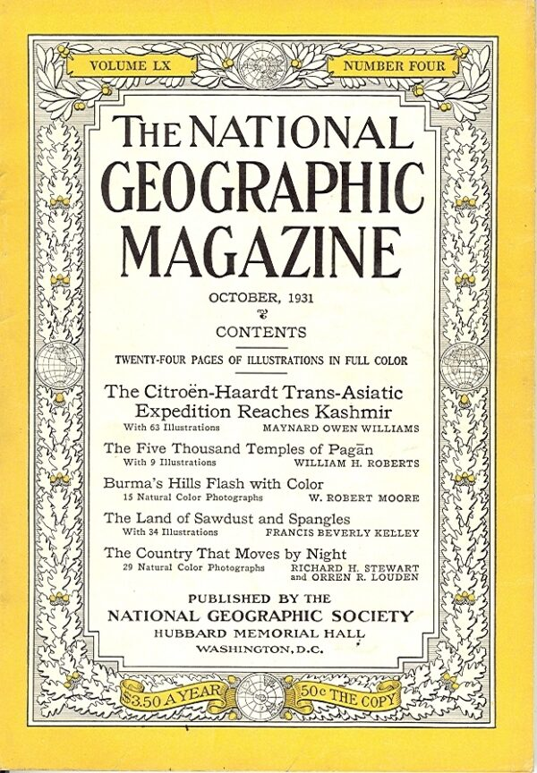 National Geographic October 1931-0