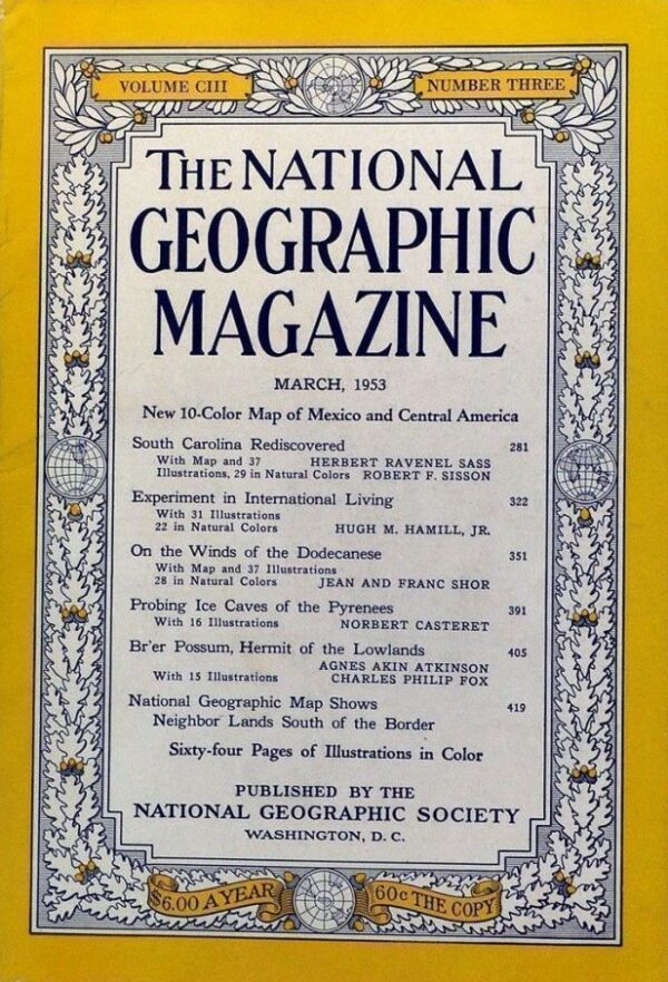 National Geographic March 1953-0