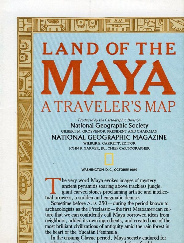 National Geographic Map October 1989-0