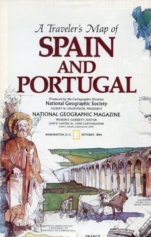 National Geographic Map October 1984-0