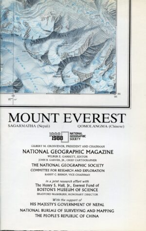 National Geographic Map November 1988-0