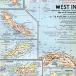 National Geographic Map West Indies 1968-0