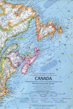 National Geographic Map Canada 1969-0