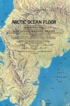 National Geographic Map October 1971-0