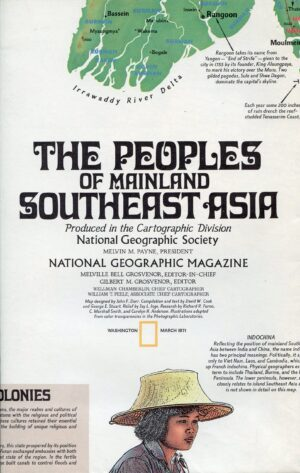 National Geographic Map March 1971-0