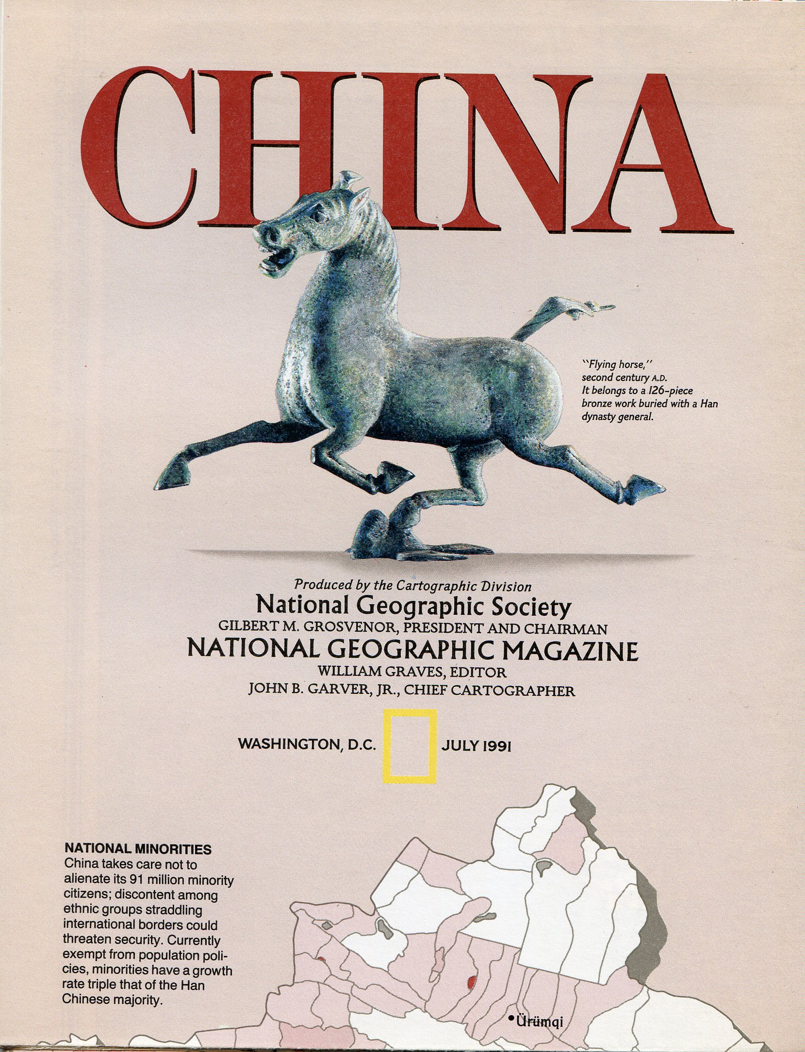 National Geographic Map July 1991-0
