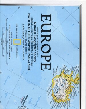 National Geographic Map December 1992-0