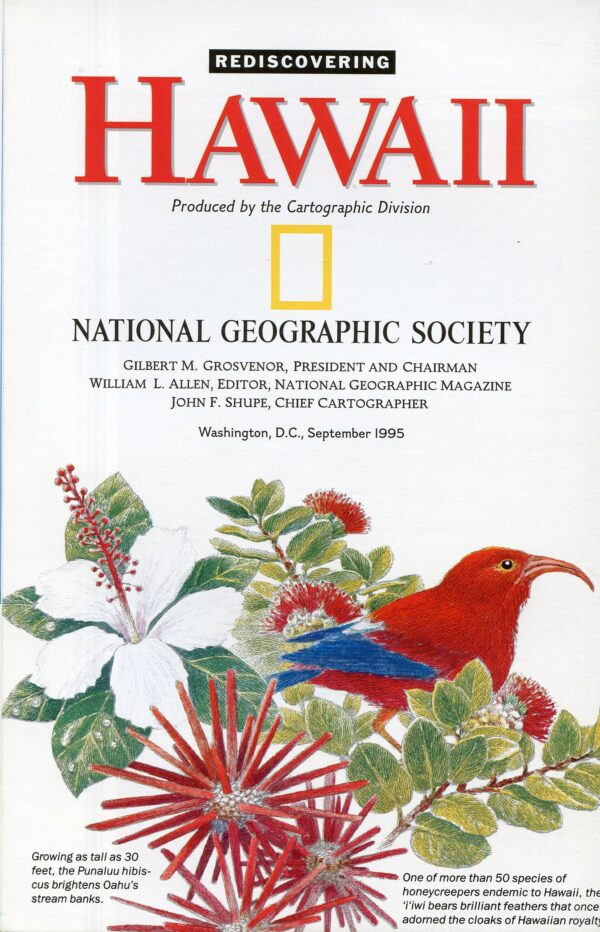 National Geographic Map September 1995-0