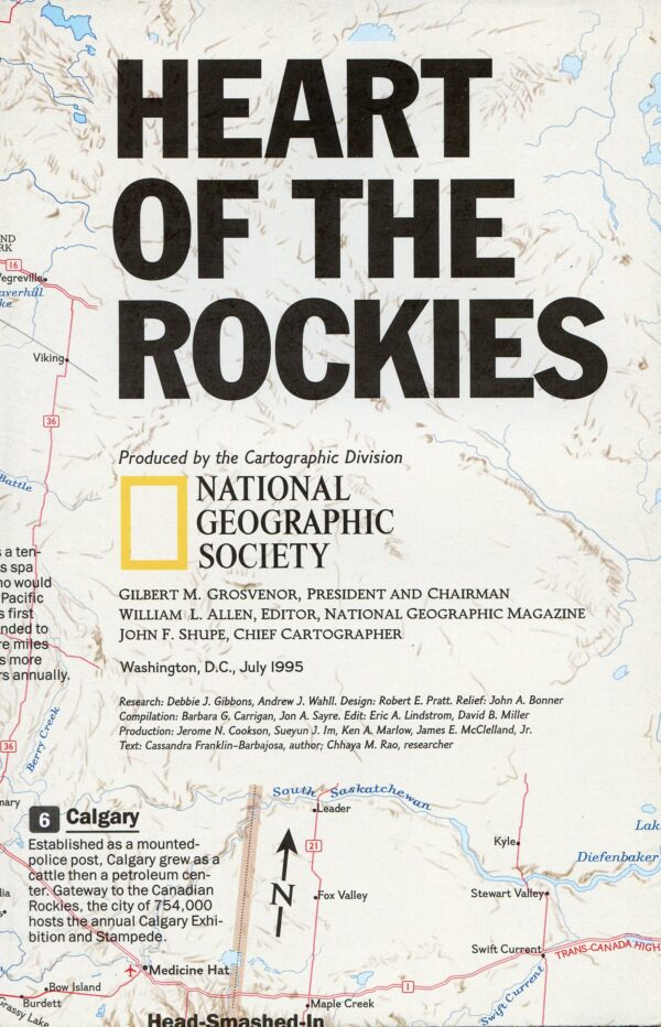 National Geographic Map July 1995-0