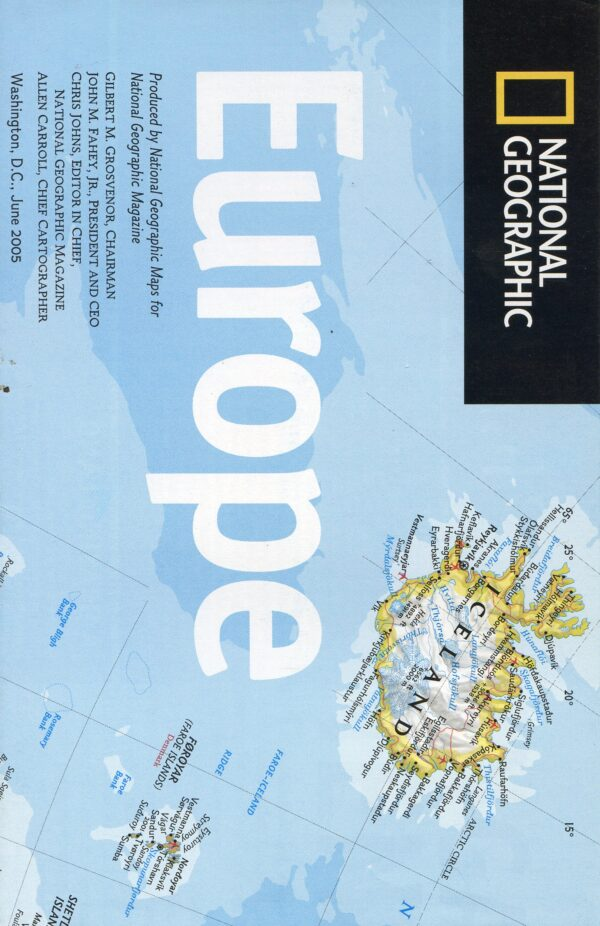 National Geographic Map June 2005-0