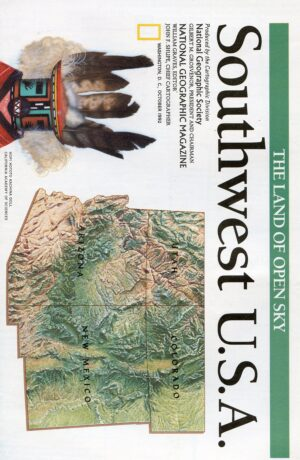 National Geographic Map October 1992-0