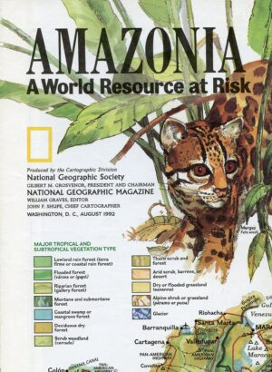 National Geographic Map August 1992-0