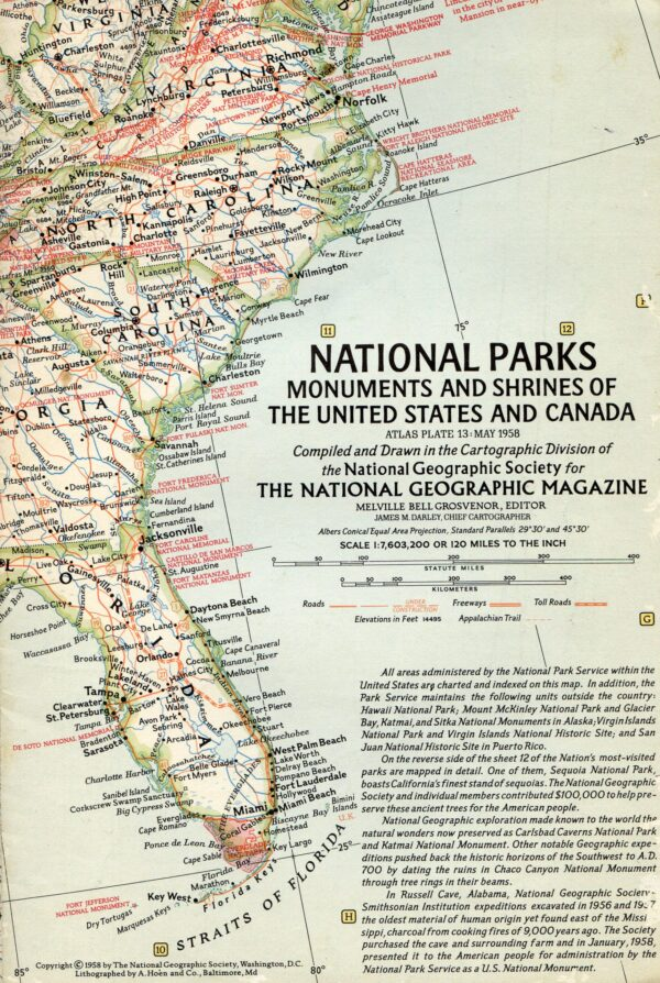 National Geographic Map May 1958-0