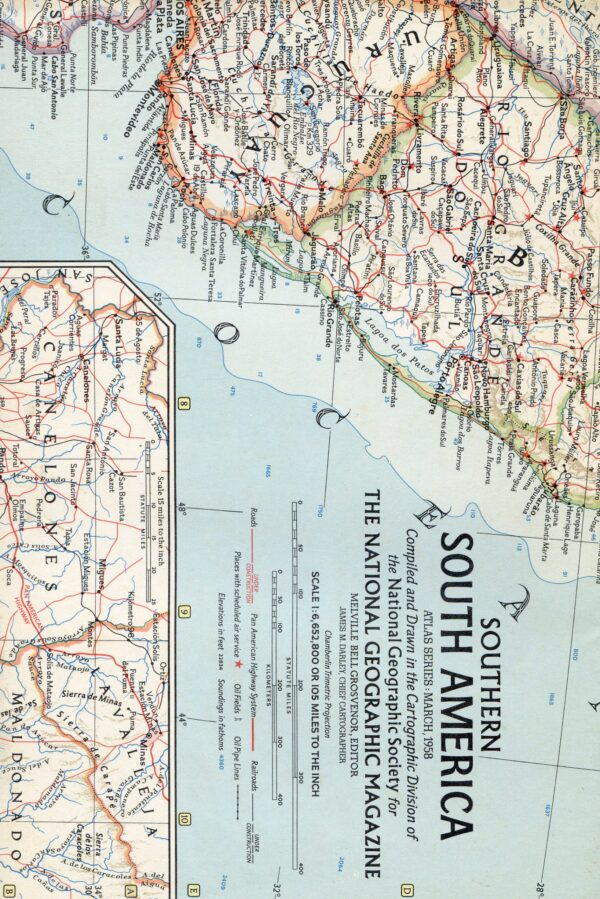 National Geographic Map March 1958-0