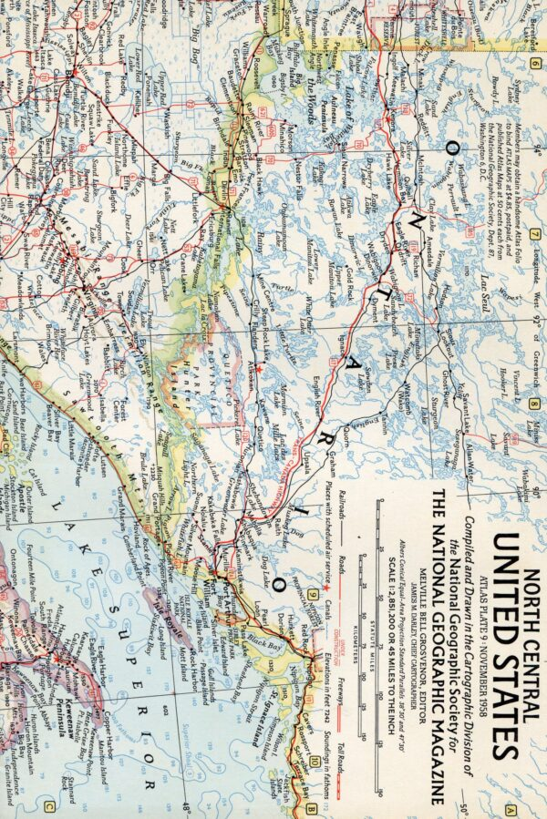 National Geographic Map November 1958-0