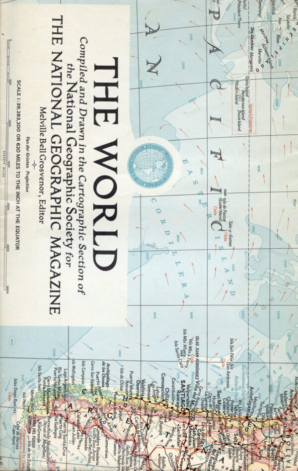 National Geographic Map March 1957-0