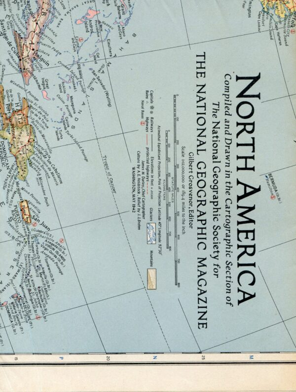 National Geographic Map May 1942-0