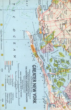 National Geographic Map July 1964-0