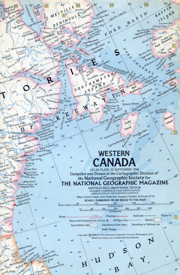 National Geographic Map September 1966-0