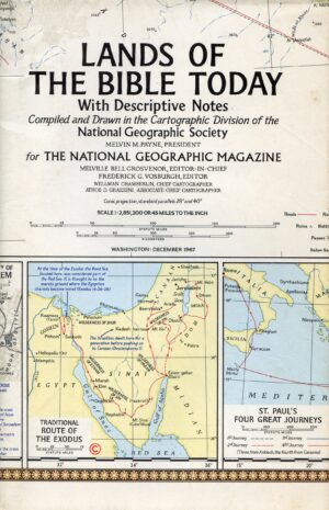 National Geographic Map December 1967-0