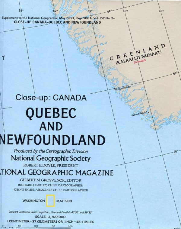 National Geographic Map May 1980-0