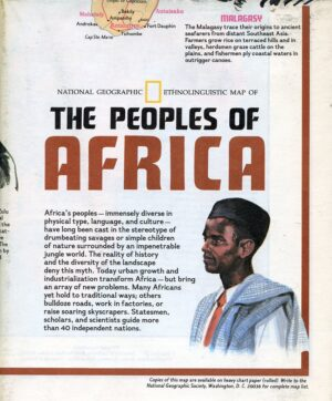 National Geographic Map December 1971-0