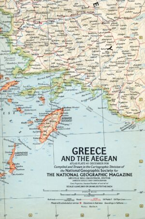 National Geographic Map December 1958-0