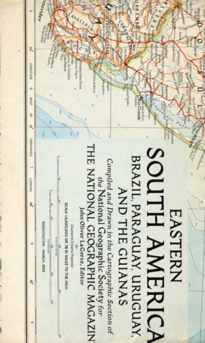 National Geographic Map March 1955-0