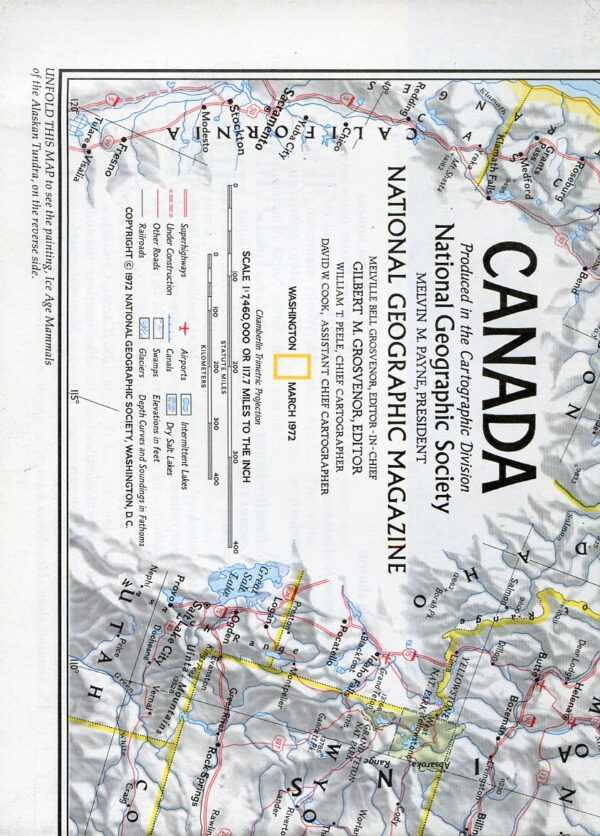 National Geographic Map March 1972-0