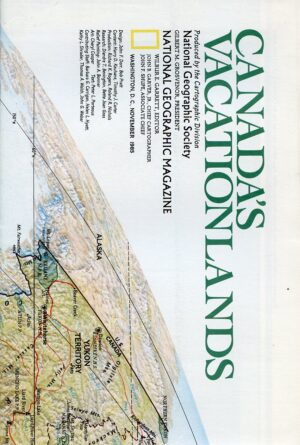 National Geographic Map November 1985-0
