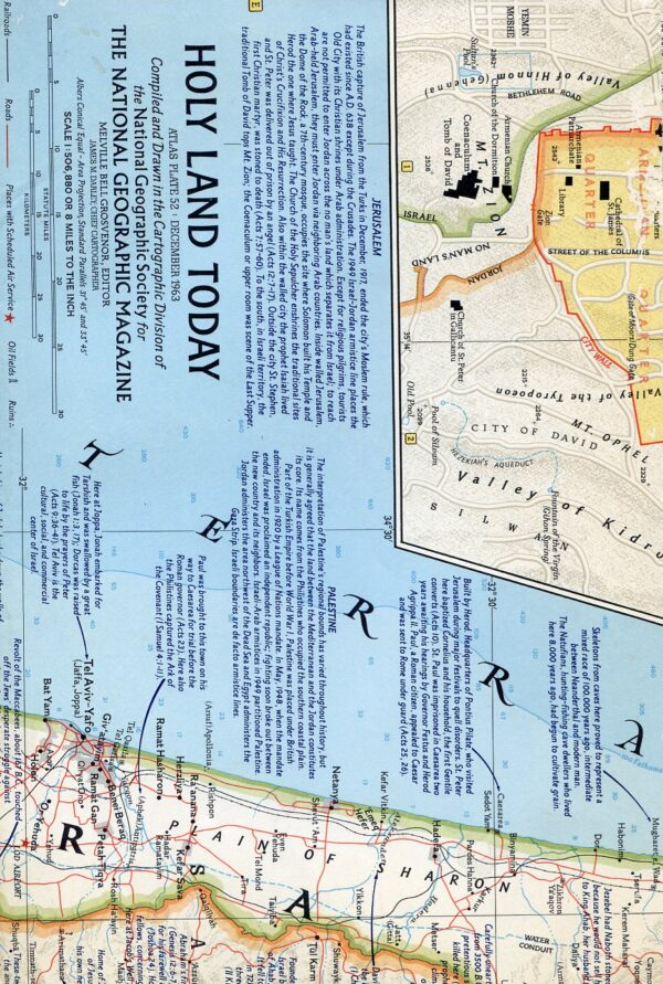 National Geographic Map December 1963-0