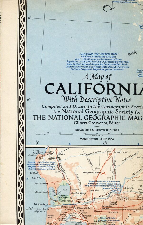National Geographic Map June 1954-0
