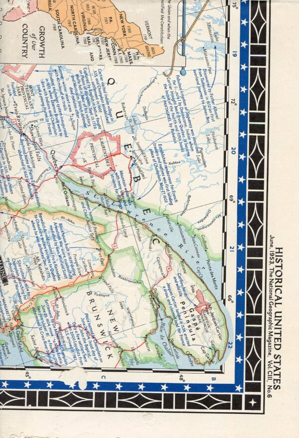 National Geographic Map June 1953-0