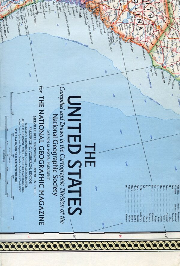 National Geographic Map February 1968-0