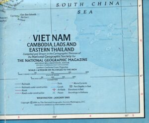 National Geographic Map January 1965-0